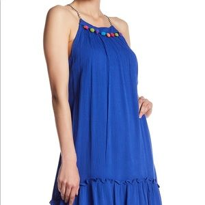 Loveriche Pom Pom Halter Dress